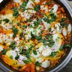 Shakshuka, Eggs, Cheese, Tomatos, Cumin & Coriander