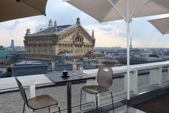 Café bar terrasse Galeries Lafayette Paris