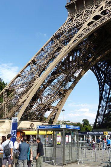 File d'attente internet Tour Eiffel