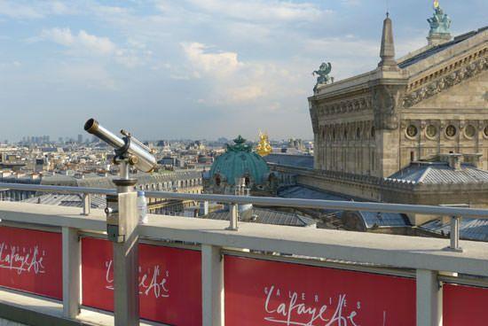 Opéra de Paris photographié depuis les Galeries Lafayette