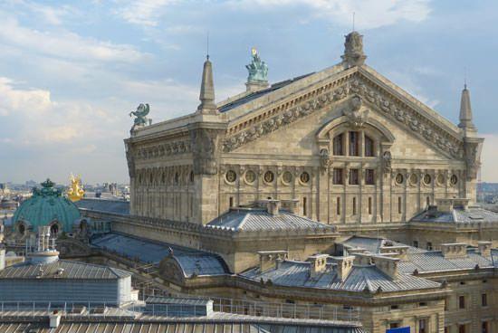 Opéra de Paris vu depuis la terrasse des Galeries Lafayette