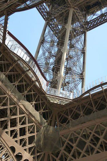 Sol en verre Tour Eiffel