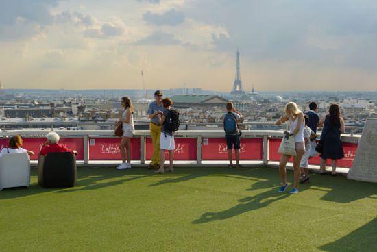 Visite terrasse Galeries Lafayette Paris