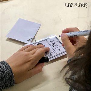 clothespin cards, grammar