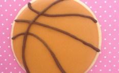 バスケットボールのアイシングクッキー