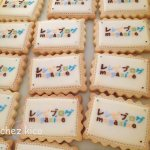 ブランドロゴのアイシングクッキー