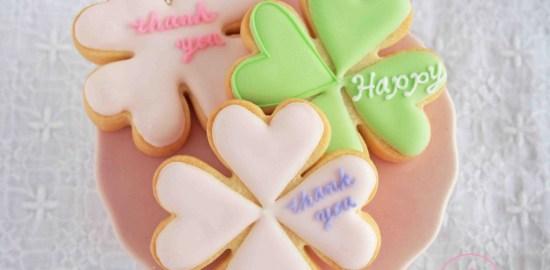 ありがとうのアイシングクッキー