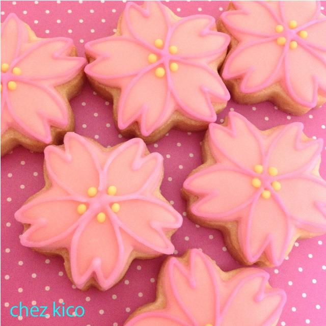 花のアイシングクッキー(桜)
