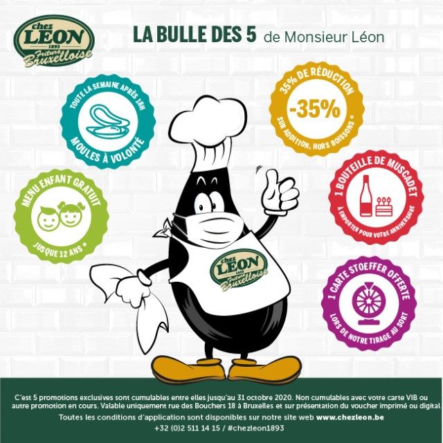 LA BULLE DES 5<br>DE MONSIEUR LÉON