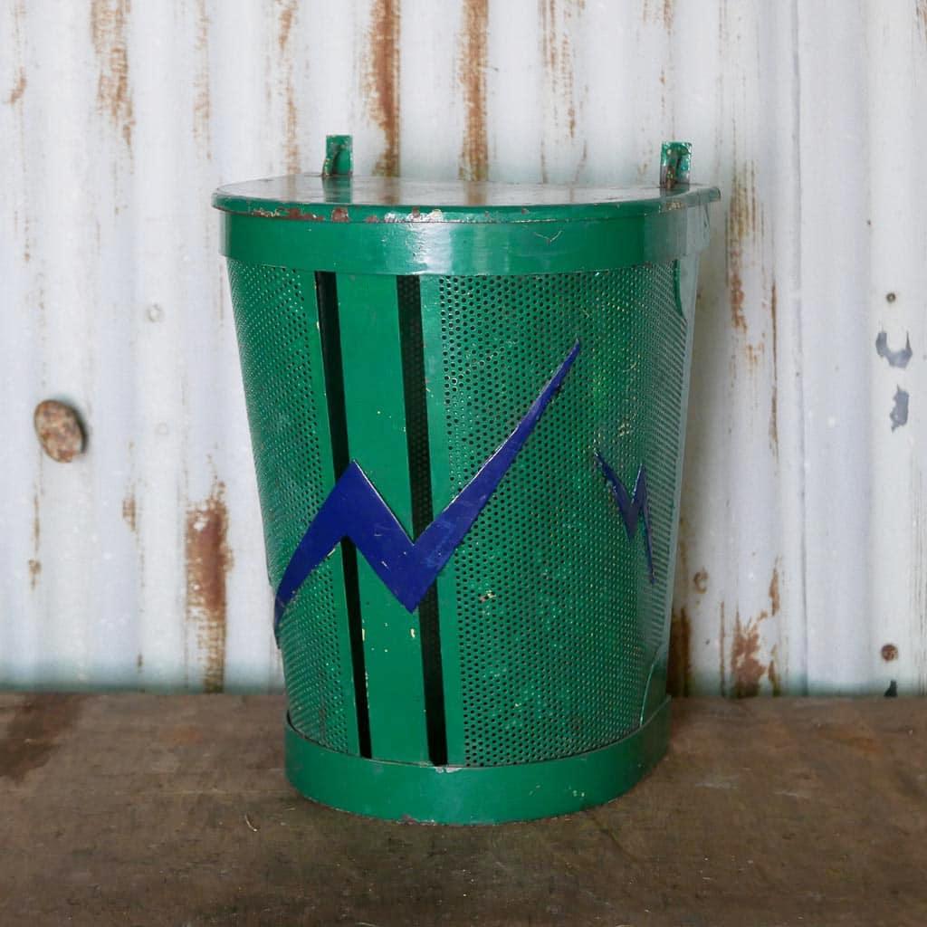 ancienne poubelle d ecole brocante chez les voisins