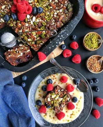 Brownies choco – myrtilles