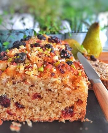 Cake healthy poires-noisettes