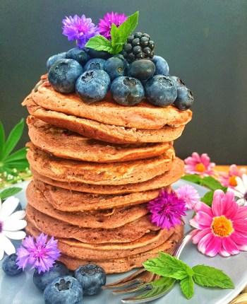 Pancakes Choco – Myrtilles
