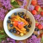 Porridge aux bananes caramélisées