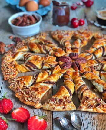 Tarte Soleil au chocolat et noix de pécan