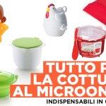 6 utensili per la cottura in microonde