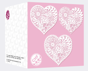 heart card front and back