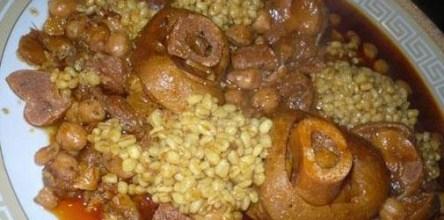 طريقة تحضير الكرعين بالحمص والقمح
