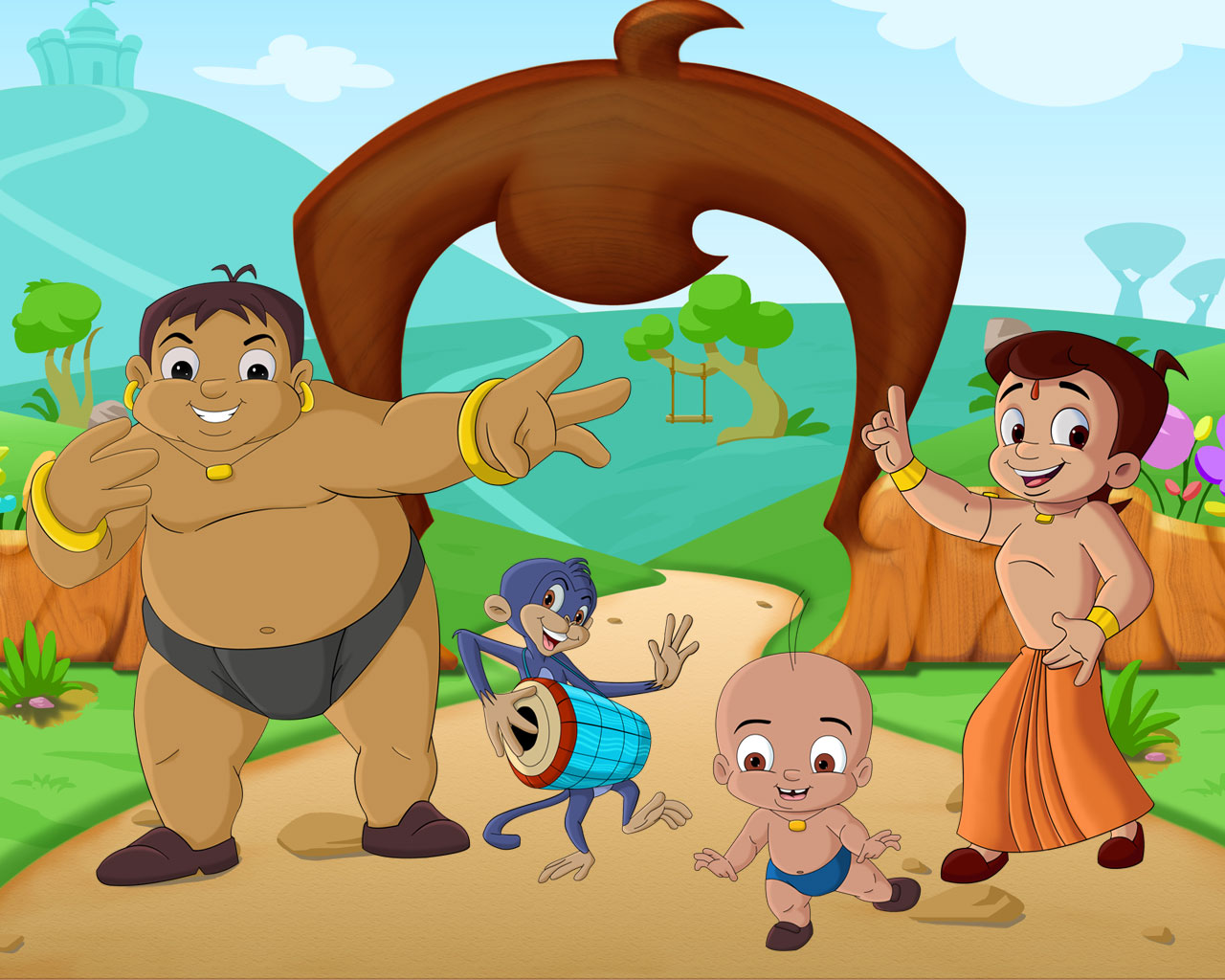 Amazing Wallpapers Cute Chota Bheem Cartoon Pictures Wallpaper Hd Images And Photos