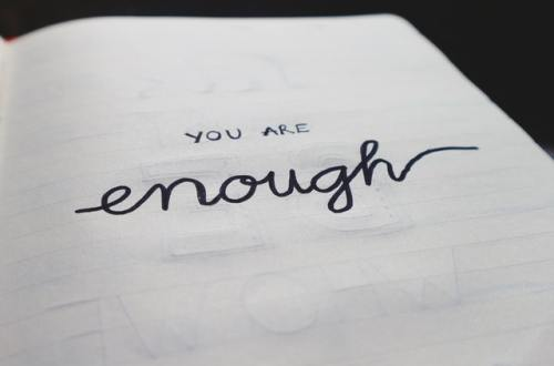 You Are Enough Text in BuJo