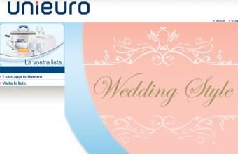 Futuri Sposi, lista nozze Unieuro
