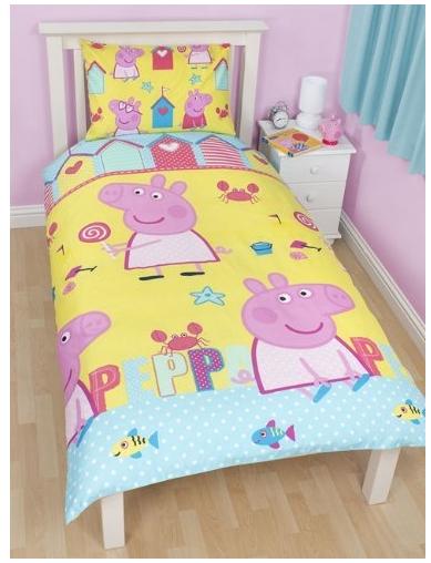 huge discount 18bc0 7b49a Regalo di compleanno per bambina completo letto Peppa Pig