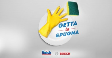 Getta la spugna con Bosch e Finish