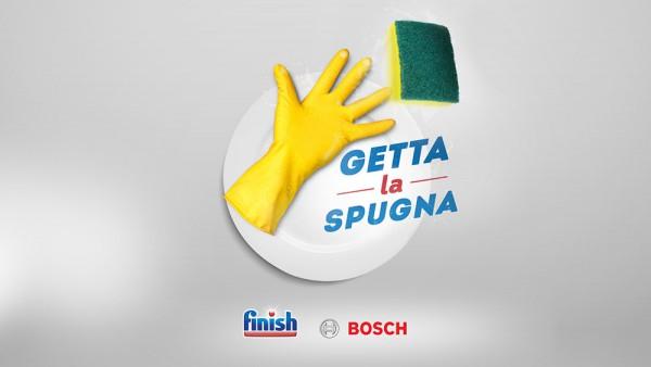 Getta la spugna con Bosch e Finish