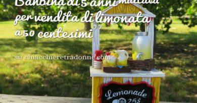Multa a bambina di 5 anni per limonata
