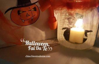 Halloween decorazioni Fai da Te con un barattolo di Nutella