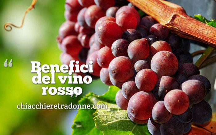 bere vino rosso benefici
