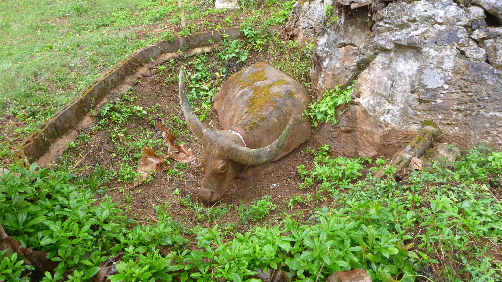 Carved Stone Bull