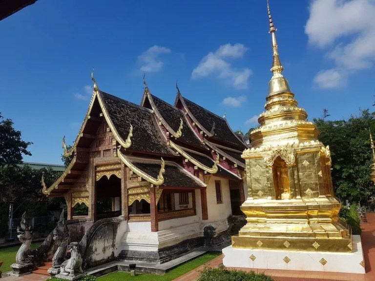 Gilded chedi and temple Wat Phra Singh