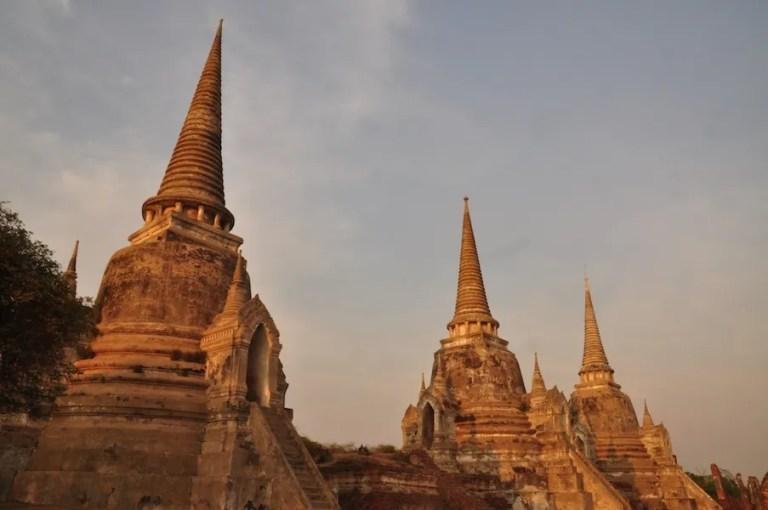 Three chedis Ayutthaya