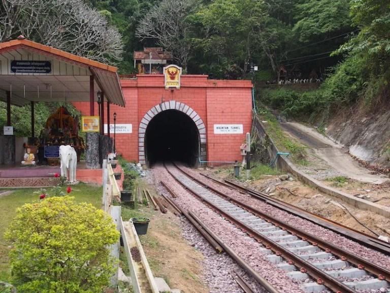 Entrance of railway tunnel Thailand Railway Journeys