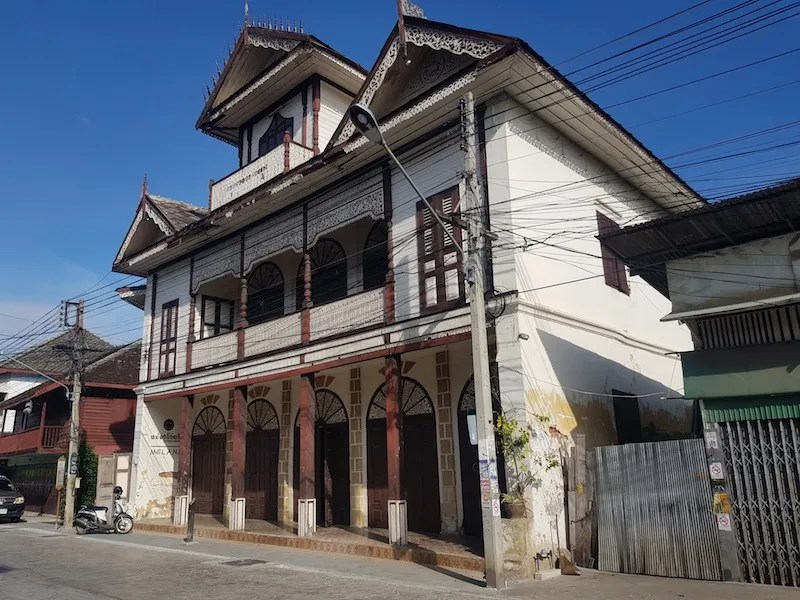 White colonial style house