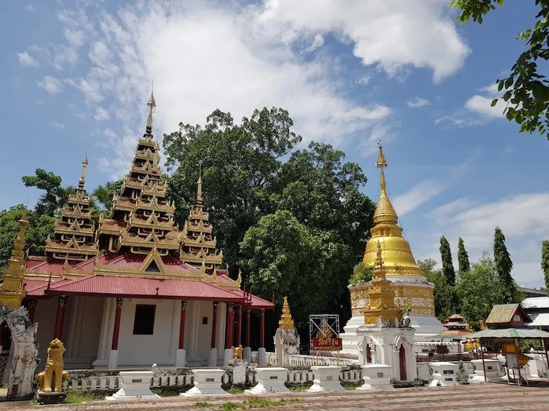 Temple and chedi