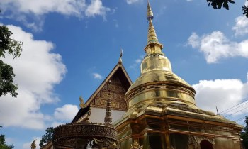 Golden tower and temple building