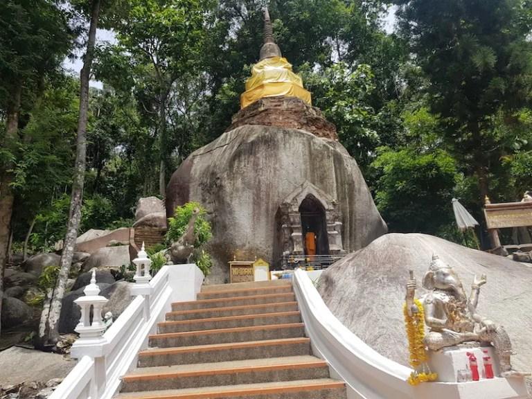 Stairs to rock Wat Phrathat Pha Ngao
