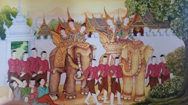Painting with elephants