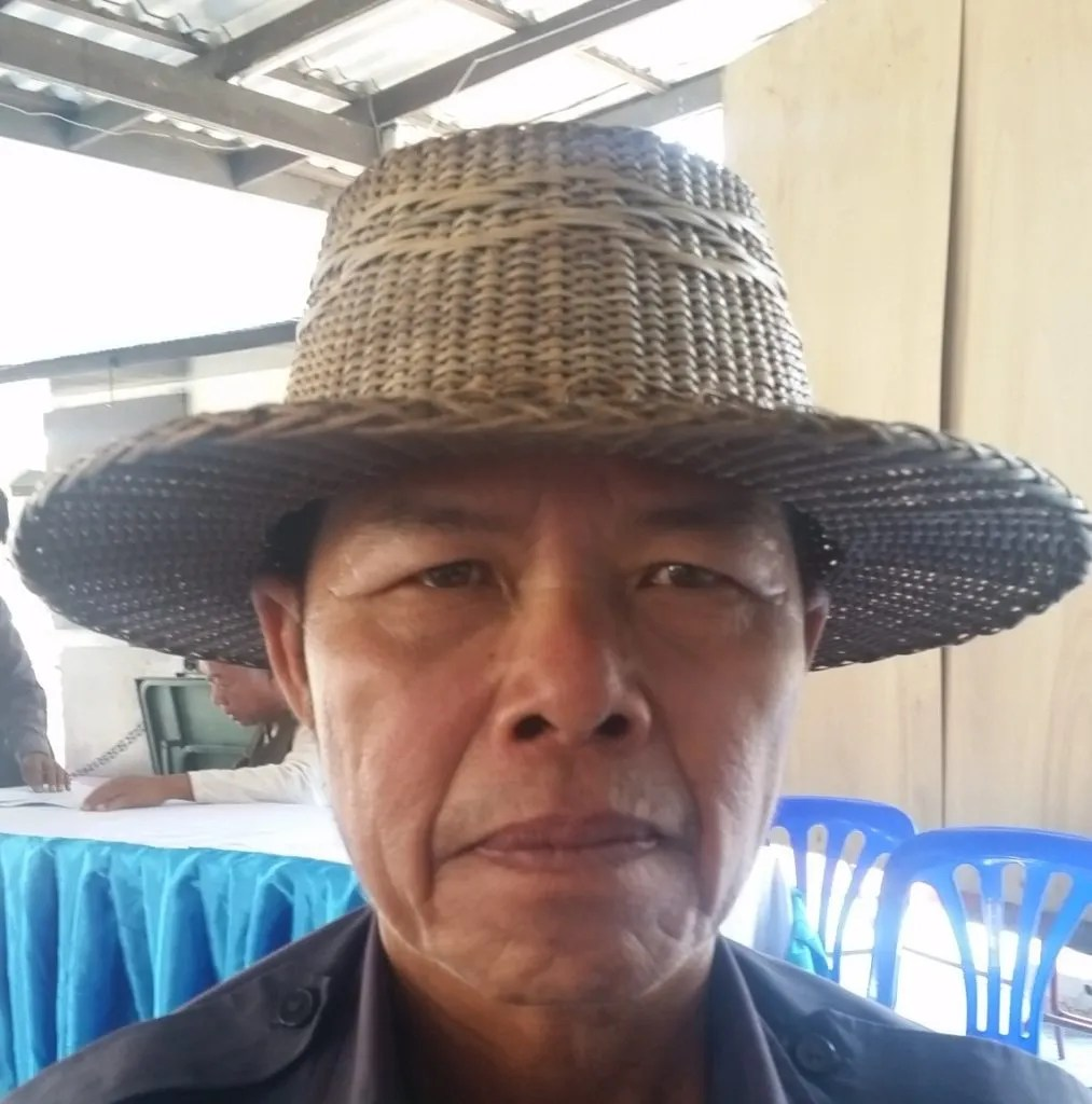 Man with bamboo hat