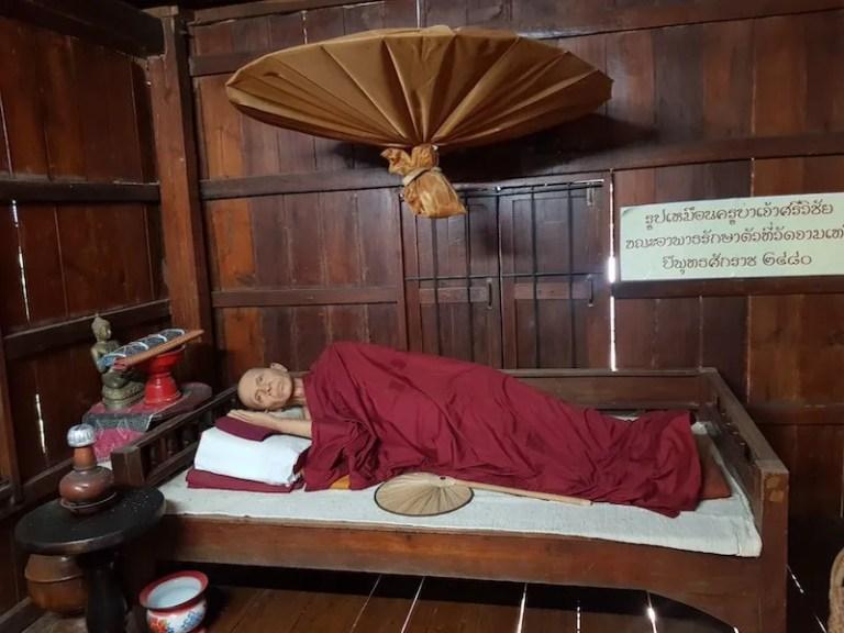 Sleeping monk Kruba Srivichai