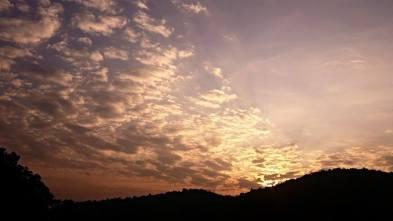Wonderful sunset at Spicy Villa