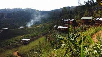 New bungalows on the mountain side
