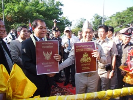 Thailand and Cambodia on Thursday introduced mutual visa exemptions at some border crossings to mark the 60th anniversary of their bilateral relations