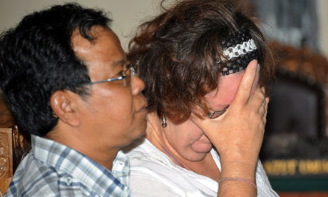 Ms Sandiford wept as the court announced its verdict and refused to speak to reporters as she was led back to a cell.