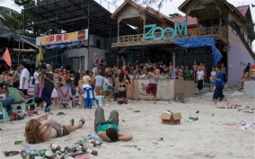 The shooting took place at the Zoom Bar on Haad Rin Beach.