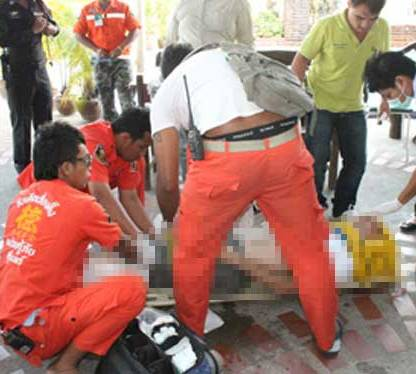 45-year-old Australian man abandoned by his Thai girlfriend leaped from the 6th floor of a Surin hotel