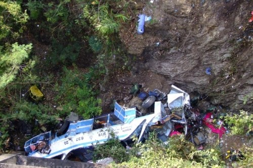 The accident occurred around midnight in Lom Sak district, Phetchabun province while the bus was en route to the northern province of Chiang Rai