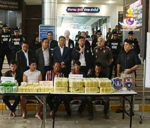 Five Hmong Men Arrested in Chiang Rai, 30Kg of Crystal Meth and 700,000 Yaba Tablets Seized